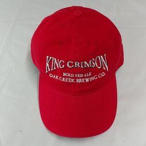 Red King Crimson Cap, w/sliver writing, adjustable